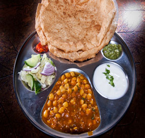 best indian Chana Bhatura  - indian food by indian restaurant, bengali sweets & restaurant serving Etobicoke, North york, Scarborough, Markham, Mississauga, Toronto, Brampton, Vaughan, Oakville, Caledon, Gta, York, Ontario.